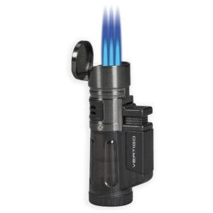 Blizzard Lighter Charcoal Open Lit